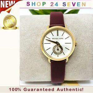 NWT Michael Kors Petite Portia Merlot Watch MK2751